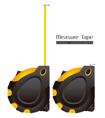 measurement tape: Illustration  of a tape measure on white background,  illustration Illustration