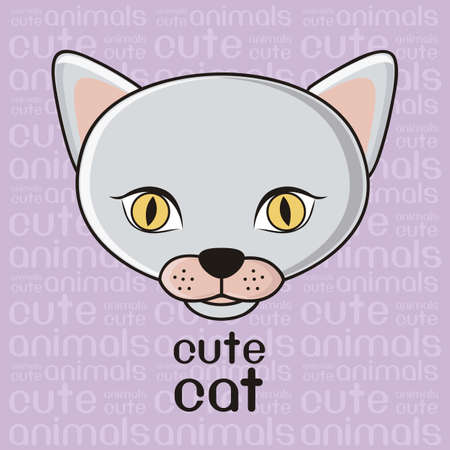 whole creature: Illustration of a cute cat background, illustration Illustration
