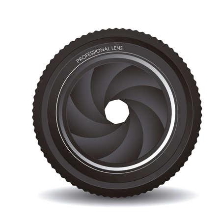 hypocenter: Illustration of camera lens isolated on white background,  illustration