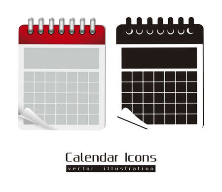 week: Calendar icons illustration isolated on white background,  illustration