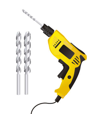 drill bit: Illustration of a drill isolated on white background,illustration