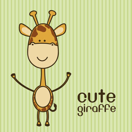Illustration of a cute giraffe background,  illustration Vector