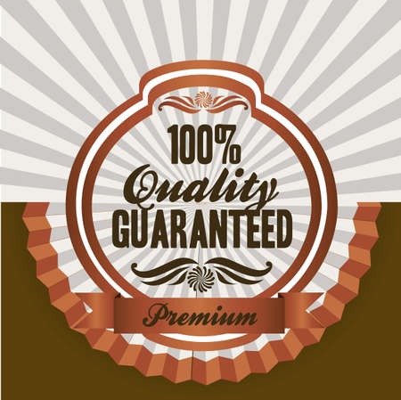 oldfield: vintage label illustrations, in warm colors, vector illustration Illustration