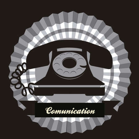 illustration of a rotary phone, black color, vector illustration Stock Vector - 14946072