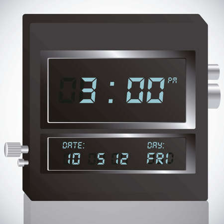 illustration of digital clock, isolated on white background, vector illustration Imagens - 14946156