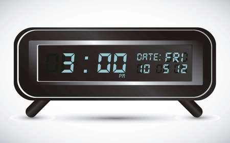 illustration of digital clock, isolated on white background, vector illustration Vector