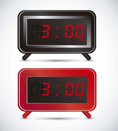 illustration of digital clock, isolated on white background, vector illustration Stock Vector - 14945954