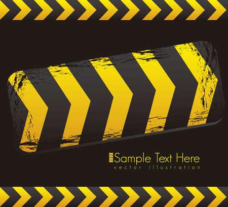 Illustration traffic tape, under construction, vector illustration Vector
