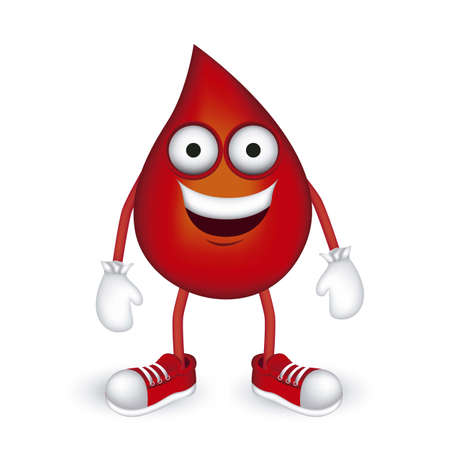 Illustration of blood drop with shoes and gloves, vector illustration Vector