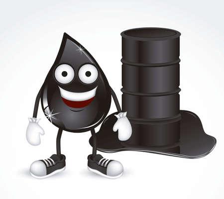 petroleum: Ilustraci�n de la gota de petr�leo con zapatos y guantes, ilustraci�n vectorial