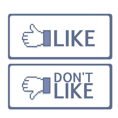 Illustration of hand with thumb up and down, vector illustration Stock Vector - 14945943
