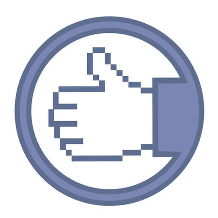 Illustration of hand with thumb up, vector illustration Stock Vector - 14945933