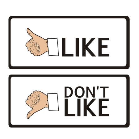 Illustration of hand with thumb up and down, vector illustration Stock Vector - 14945961