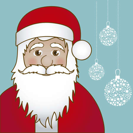 Illustration of Santa Claus isolated on blue background, vector illustration Stock Vector - 15084072