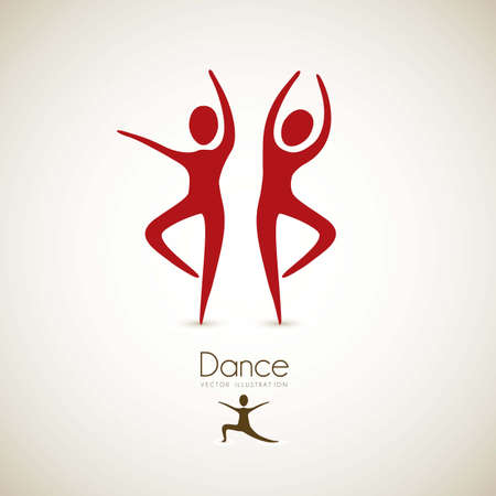 Illustration of couples dance positions, vector illustration Stock Vector - 15084132