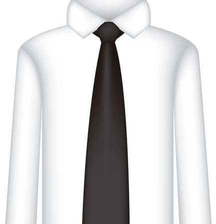 official wear: illustration of serious shirt and tie, vector illustration