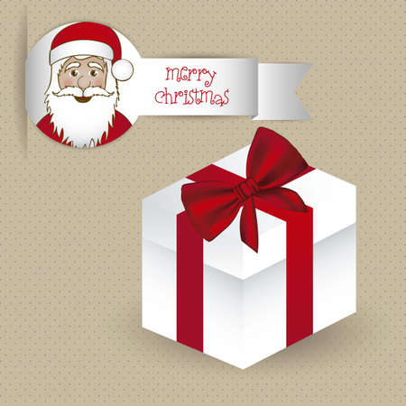 illustration of white gift box with red ribbon, vector illustration Stock Vector - 15083958