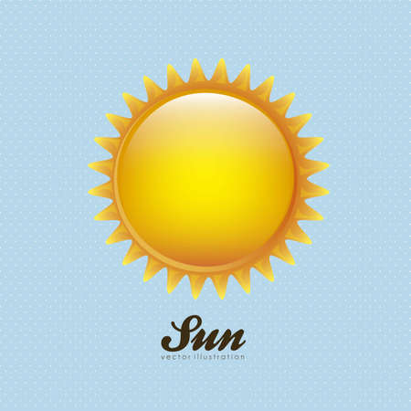Cartoon illustration of a sun on dots background, vector illustration Stock Vector - 15084025