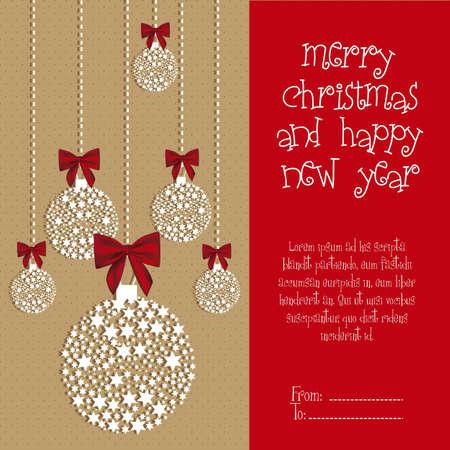 Illustration Christmas ball made with stars, vector illustration Stock Vector - 15083894