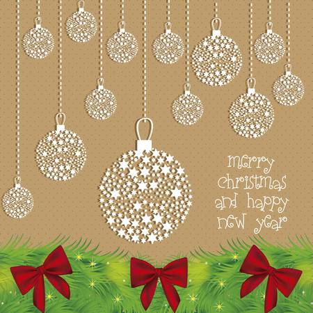 Illustration Christmas ball made with stars, vector illustration Stock Vector - 15083904