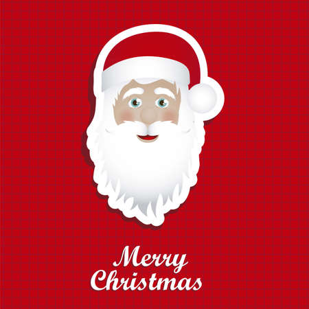 Illustration of Santa Claus isolated on red background, vector illustration Stock Vector - 15084020