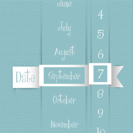 personal data assistant: calendar illustration, origami, background of colored dots, vector illustration