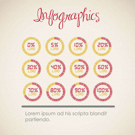 infographics illustration of numbers, vector illustration  brown
