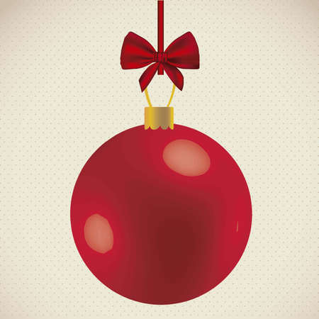 Illustration of Christmas balls and bright colors, vector illustration   Vector