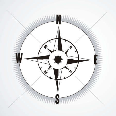 structure compass illustration isolated on white background, vector illustration Vector