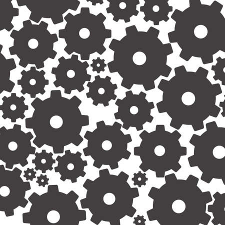 illustration of silhouettes of gears, isolated on white background, vector illustration Vector