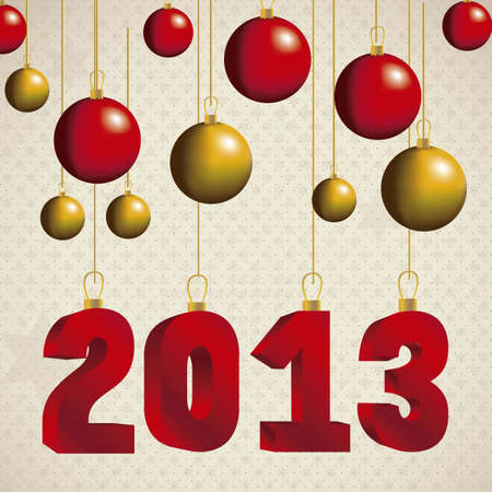 illustration of new year 2013, happy new year, vector illustration Stock Vector - 15271875
