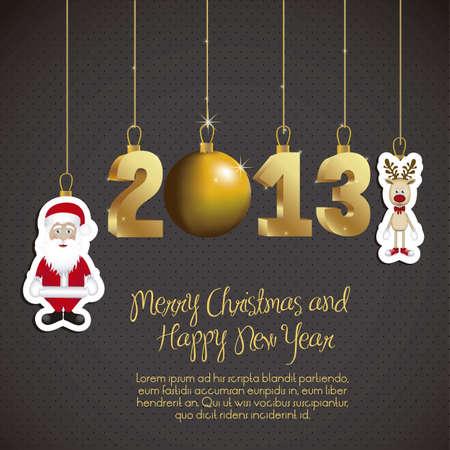 illustration of new year 2013, happy new year, vector illustration Stock Vector - 15271874