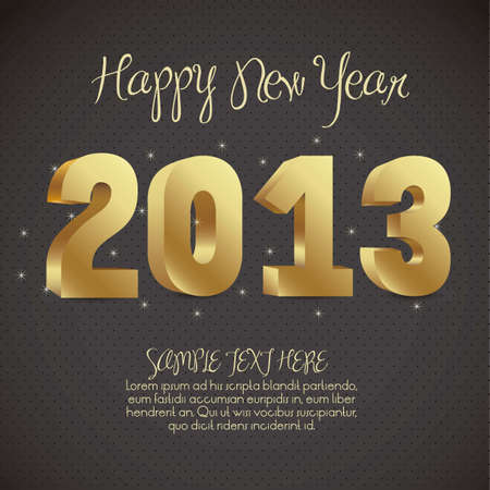 illustration of new year 2013, happy new year, vector illustration Stock Vector - 15271851