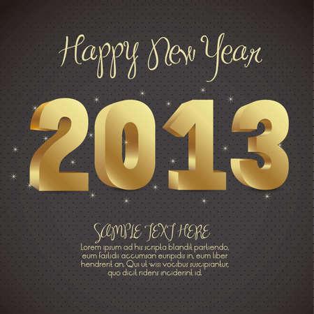 illustration of new year 2013, happy new year, vector illustration Stock Vector - 15271851