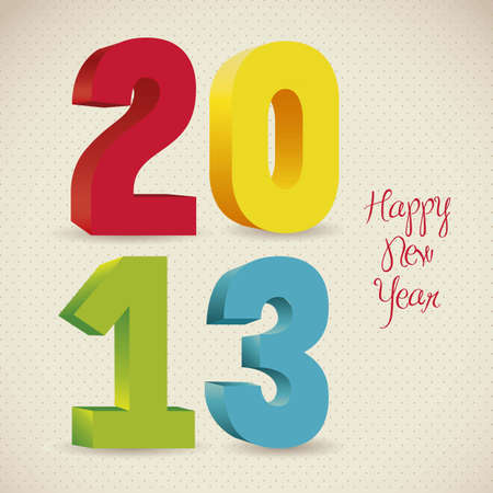 illustration of new year 2013, happy new year, vector illustration Stock Vector - 15271623