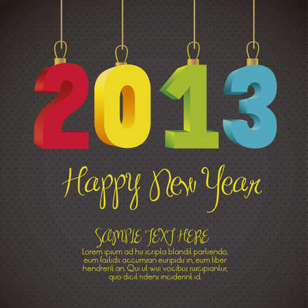 illustration of new year 2013, happy new year, vector illustration Stock Vector - 15271609