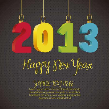 illustration of new year 2013, happy new year, vector illustration Stock Vector - 15271609