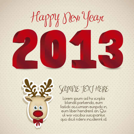 illustration of new year 2013, happy new year, vector illustration Stock Vector - 15271773