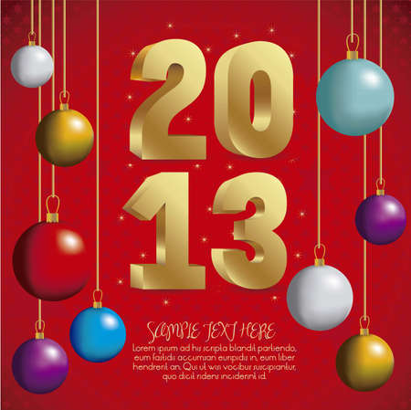illustration of new year 2013, happy new year, vector illustration Vector