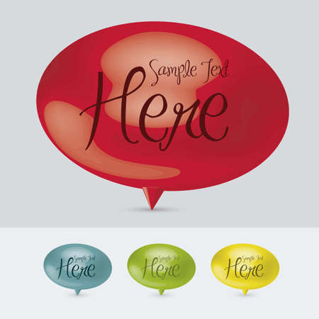 conception: illustration of colorful text balloons, 3D, vector illustration Illustration