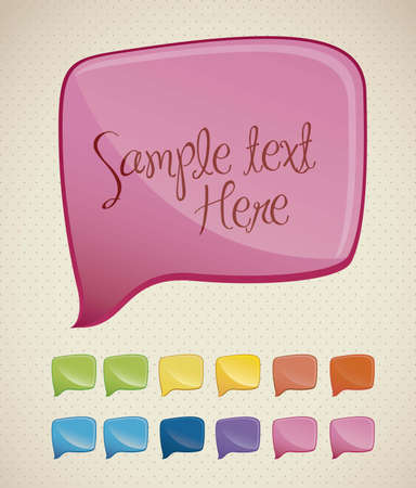 Illustration of colorful text balloons, vector illustration Vector