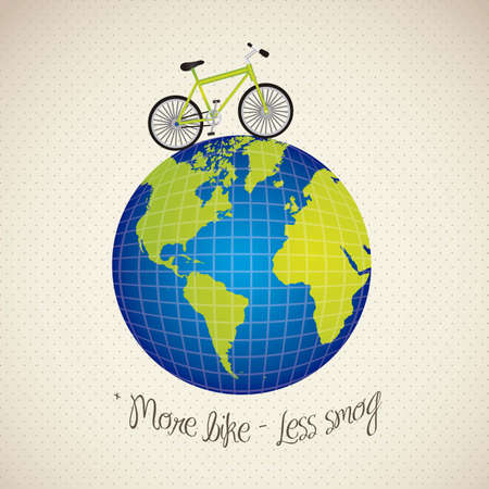 bike trip arround the world, vector illustration Vector