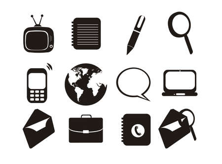 business figures: Illustration of business icons, connectivity, networking, web, vector illustration Illustration