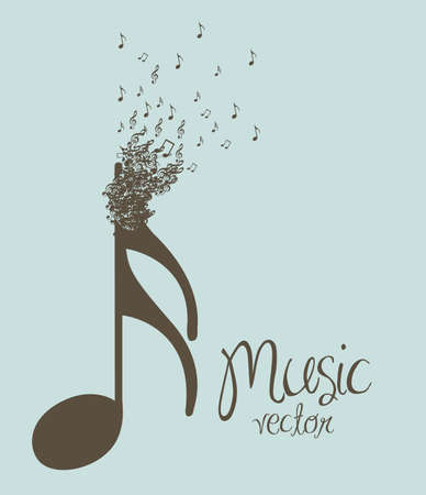 sonata: Illustration of musical notes forming a larger note, music, sound, vector illustration Illustration