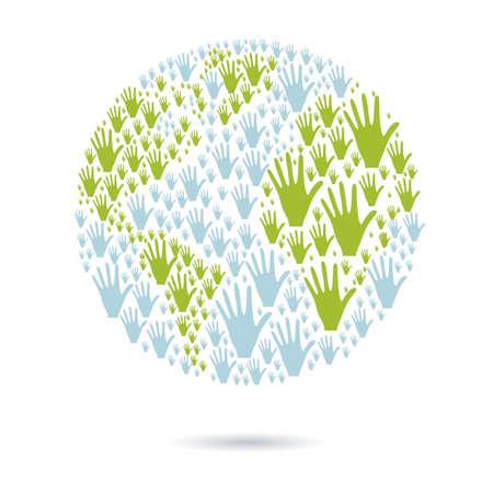 solidaridad: ilustraci�n de las manos de muchos colores, el concepto de diversidad, ilustraci�n vectorial Vectores