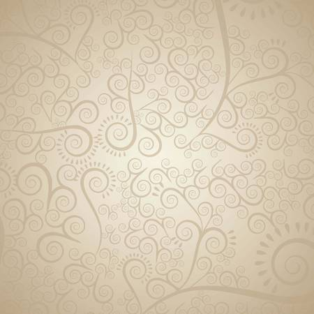 illustration of arabesque pattern in beige tones, vector illustration Vector
