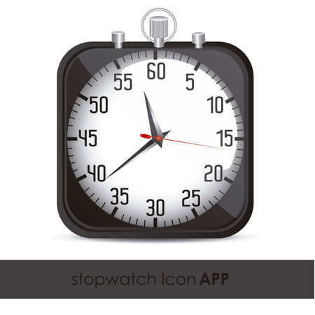 illustration of the application icon timed, vector illustration Vector