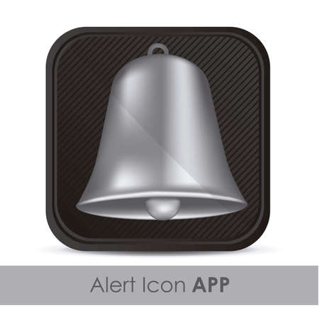 illustration of alarm application icon with silver bell, vector illustration Stock Vector - 15563899