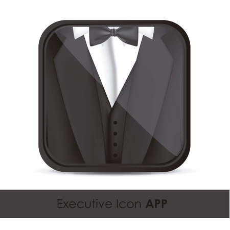 illustration of icon for application of executives, with formal attire, vector illustration Stock Vector - 15563988