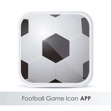 sports application: illustration of icon for application of sports, with soccer ball pattern, vector illustration Illustration